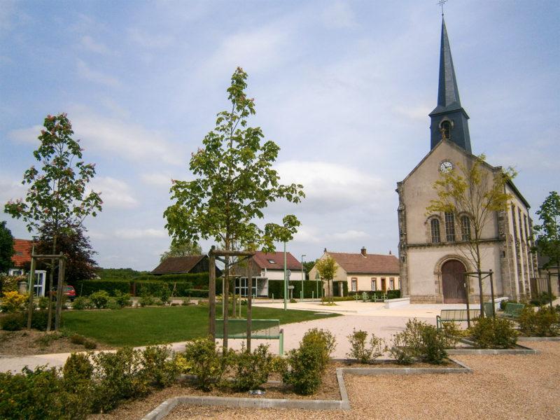 Place de l'église, Châtenoy